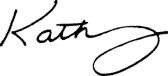 Kathy Only (No Brookes) Signature